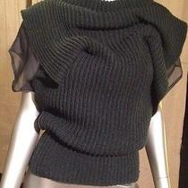 Valentino Hunter Green Cable Knit Sweater M Photo