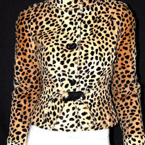 Valentino Leopard Print Dyed Lapin Rabbit Fur Jacket 6 Photo