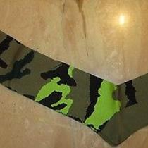 Valentino Men's Camouflage Camo Long Socks L / Xl Olive Free Shipping Photo