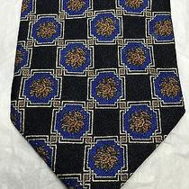 Valentino Men's Tie Blue With Gold and Blue Design Photo