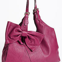 Valentino Red Bow Hobo Raspberry Red  595 Photo