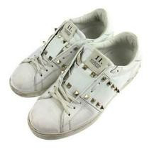 Valentino Rock 40.5 Size 40.5 White Low Cut Sneaker 1328 From Japan Photo
