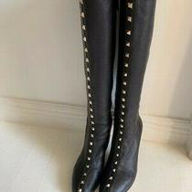 Valentino Rocketed Boots Black Gold Photo