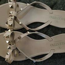 Valentino Rockstud Jelly Sandals Size 38 Blush Photo