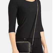 Valentino Rockstud Leather Camera Black Leather Crossbody Bag 1395 Photo