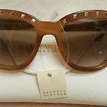 Valentino Rockstuds V677s Sunglasses Striped Honey  Brown Lenses New Studs Photo