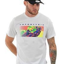 Valentino Rossi White Pop Art T-Shirt Photo