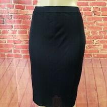 Valentino  Sara Valentino Pencil Stretch Viscose Women's Skirt Navy Sz 46 Us 12 Photo
