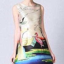 Valentino Style Silk Painting Dress Floral Size L Photo