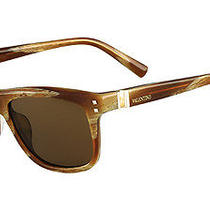 Valentino Sunglasses V653s 259 Striped Cognac  54mm Photo