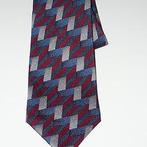 Valentino Tie  Pure Silk Geometric Men Necktie  Photo