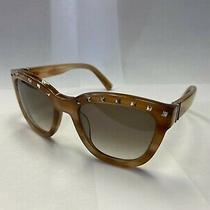 Valentino V677s Light Havana 722 Studs/brown Shaded 52/20/130 100% Authentic Photo