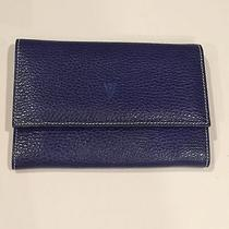 Valentino Vintage Bifold Wallet Leather Italy Blue Yellow Red Orange Green. Photo