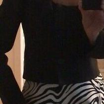 Valentino Women Cropped Jacket/blazer With Flared Collar Black Wool/silk Size 6 Photo