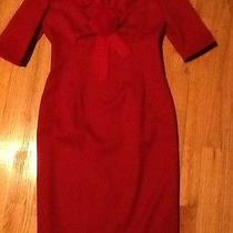 Valentino Wool Red Dress Sz 6 Photo