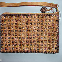 Valerie Stevens Beaded Copper Wristlete Evening Bag Purse Clutch  Photo