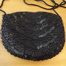 Valerie Stevens Black Beaded Purse Evening Bag 8