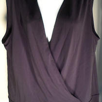 Valerie Stevens Black Sleeveless Crossover Top Gently Worn Large Orig 75 Photo