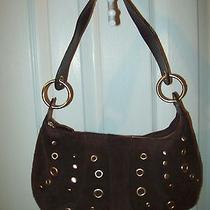 Valerie Stevens Brown Suede Hand Bag / Purse  Lk Nu  Cc-B2 Photo