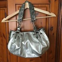 Valerie Stevens Clutch Silver/black Handbag Purse Photo