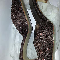 Valerie Stevens Designer Name Shoes W/ Sequins and Textured Size 7.5m Photo