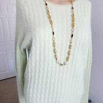 Valerie Stevens Long Raglan Sleeve Pistachio Cashmere Sweater Size L ( Bust 38 ) Photo