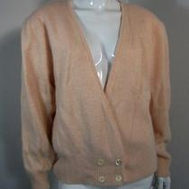 Valerie Stevens Luxury Yarn Long Sleeve Cardigan Sweater Size L Pink  Photo
