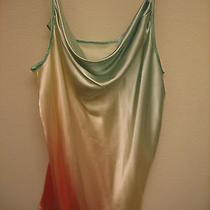 Valerie Stevens Mint Cream and Peach Nightie/pants Set Size L Photo