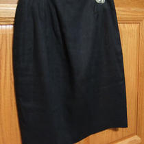 Valerie Stevens Pure Linen Black Skirt . 4 Photo