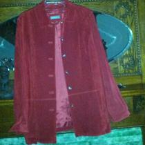 Valerie Stevens Red Suede Shirt Style Jacket Photo