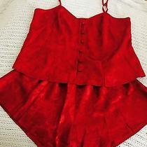Valerie Stevens Size Medium Red Nightie Set Photo