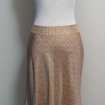 Valerie Stevens Sz 6p Silk Skirt  Pastel Floral a-Line Fluted Style Exc  Photo