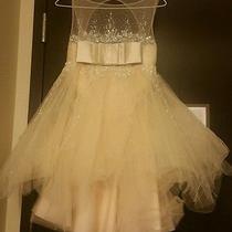 Valerie Tolosa Vt Off White Blush Dress Short New Wedding Party Dancer Wedding Photo