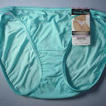 Vanity Fair Nv Style 18108 Illumination String Bikini Size 6 in Aqua Lagoon Photo