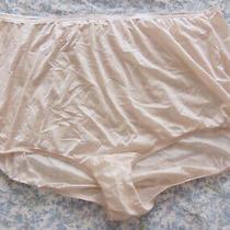 Vanity Fair Vintage Plus Size Satiny Nylon Blush Mushroom Gusset Panties 11 Vgvc Photo