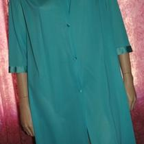 Vanity Fair Vintage Robe Size Medium Aqua Blue Nightgown  Photo