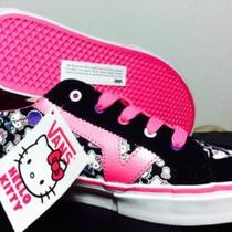 Vans Tory Hello Kitty Black/pink/white Size Ms 3.5 Photo