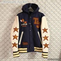 Vanson X Tom & Jerry Varsity Jacket Motorcycle Size L Dark Blue/ivory 20-21w New Photo