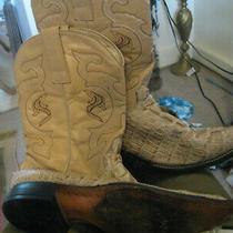 Vaquero  Cud'cari Used Cowgirl Croc Leather Boots 7/7.5 Photo