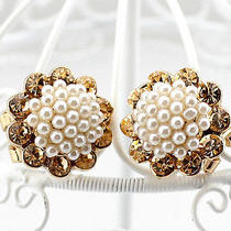Vase Sunflowers Earrings for Lady Women Girls 14k Plated Rosegold Photo