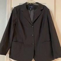 Venezia Jeans Lane Bryant Women's Gray Lined Suit Jacket Blazer Plus Sz 20 Photo