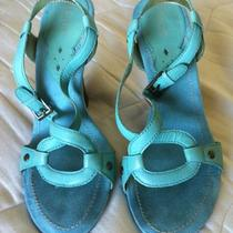Venus Aqua Blue Heel Shoe Sz 7 Photo