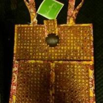 Vera Bradley 3pc Settiki Toteclutch Purse & Sandels Set Bali Gold Photo