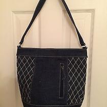 Vera Bradley Abby Denim Quilted Bucket Shoulder Handbag Limited Edition Nwt Photo
