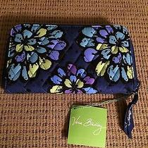 Vera Bradley Accordian Wallet Indigo Pop Nwt Photo