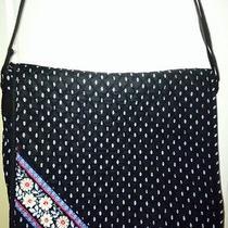Vera Bradley Alpine Black Messenger Crossbody Diaper Bag Excellent Photo