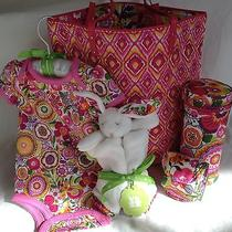 Vera Bradley Baby Day Tote Outfit Bottle Caddy Pacifier Pod Clementine Photo