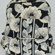 Vera Bradley Backpack in Camellia Black White Flowers Great Condition Photo