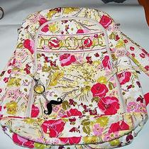Vera Bradley Backpack Make Me Blush  Quilted Cherry Pink Green Floral  Photo