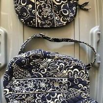 Vera Bradley Backpack Purse and Makeup Bag Blue and White Photo